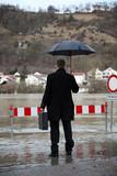 Überschwemmung der Stadt