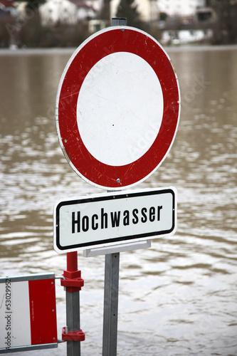 Hochwasser Schild