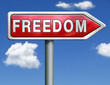 freedom road sign arrow