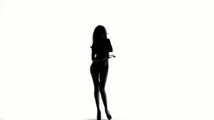 Undressing Female Silhouette