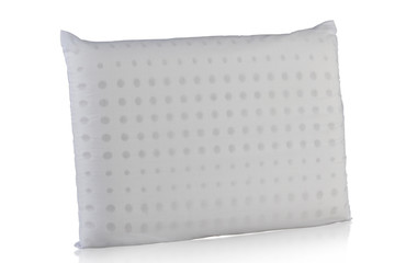 Clean white pillow filling inside with soft rubber
