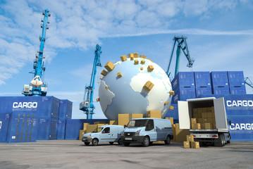 International transport, docks