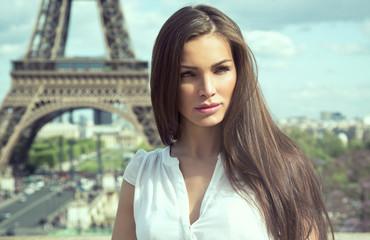 Fashion woman in romantic city