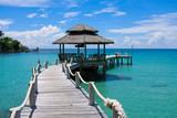 Fototapeta Fototapety z mostem - Wooden pier, Thailand. © OlegD