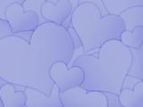 Fundo com corações azuis