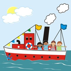 steamer and children