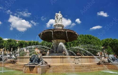 Deurstickers Fontaine AIX-EN-PROVENCE : Fontaine de la Rotonde