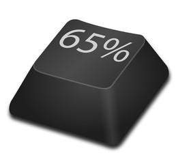 Computer Key - 65 percent