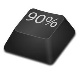 Computer Key - 90 percent