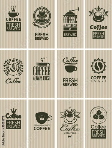 set of vintage cards on coffee