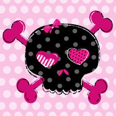 cute black skull