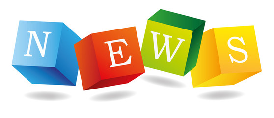 News Icon Zeitung News Nachrichten Aktuelles Würfel 3D