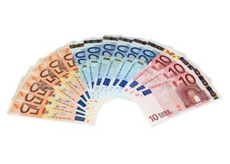 Fünzehn Geldscheine - 450 Euro
