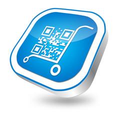 E-business, button blau