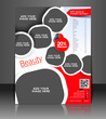 Vector salon brochure, flyer, magazine cover