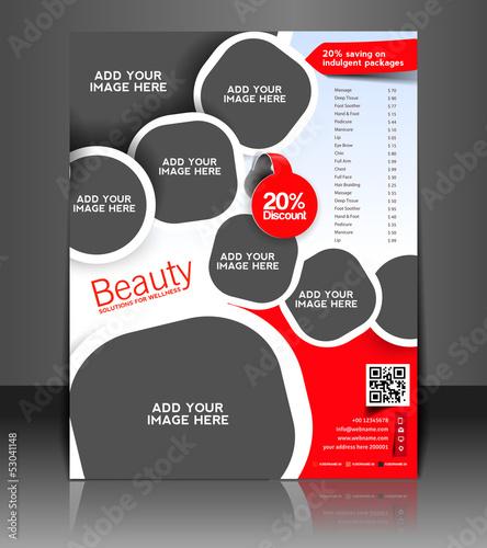 Vector salon brochure, flyer, magazine cover