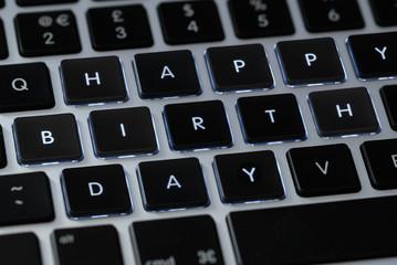 """""""Happy birthday"""" on a keyboard"""