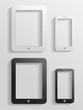 Vector modern icon mobile phone with tablet