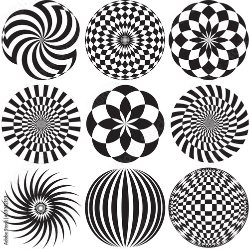 Optical Art in Black and White