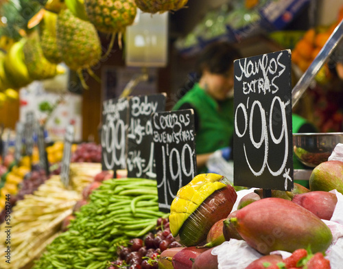 Fresh food market, Barcelona