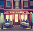 Restaurant retro illustration - 53043974