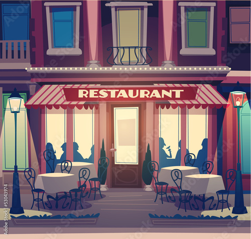 Restaurant retro illustration