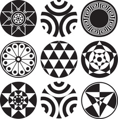 Round Pattern Design Elements