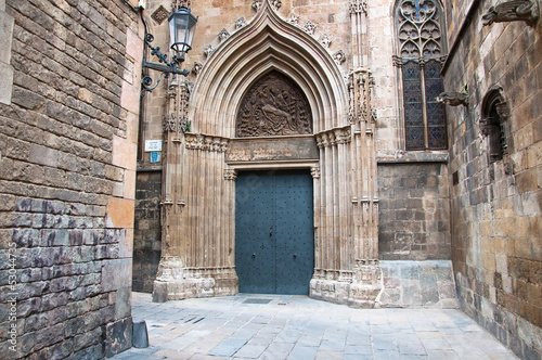 The Gothic Quarter in Barcelona.Spain.