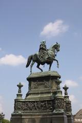 Monument to king Johann on a horse