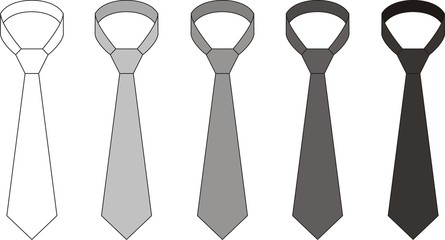 Vector fashion illustration of men's ties