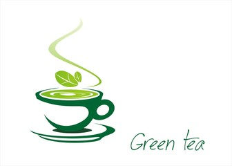 green tea, tea leaves , icon, business logo design