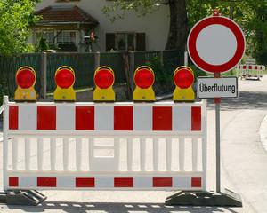 Straßensperre - Barrikade - Absperrung