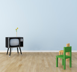Children's room there is a television