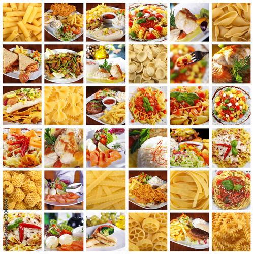 Gemischtes Essen Collage