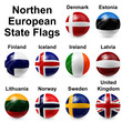 Northern European States Flags