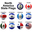 Northern American States Flags