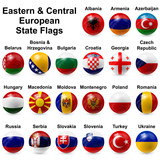 Eastern & Central European State Flags poster