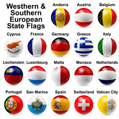 Western & Southern European State Flags