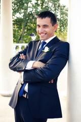 Happy young groom