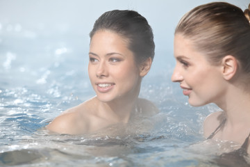 Girls Relaxing in Beauty and Wellness Spa
