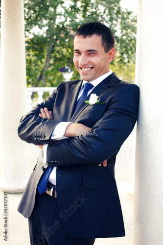 Happy young groom