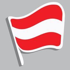 Flagge in österreichischen Farben