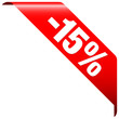 "Banner ""-15%"" Red"