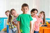Fototapety Group of five preschoolers