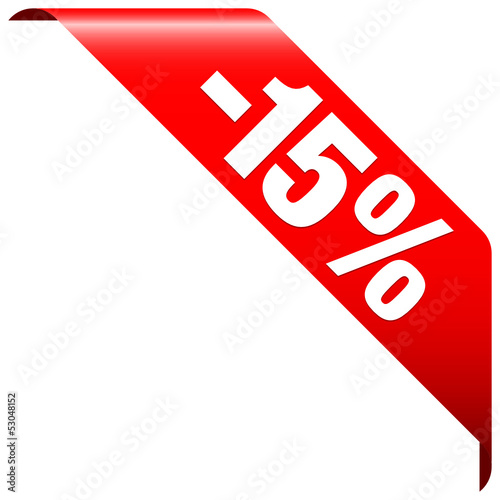 """Banner """"-15%"""" Red"""