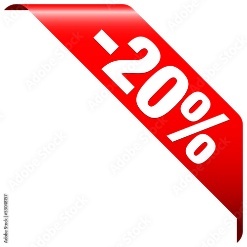 "Banner ""-20%"" Red"