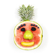 Funny fruit face