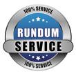 5 Star Button blau RUNDUM SERVICE 100PCT 100PCT