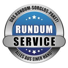 5 Star Button blau RUNDUM SERVICE DRSP DRSP