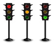three traffic lights